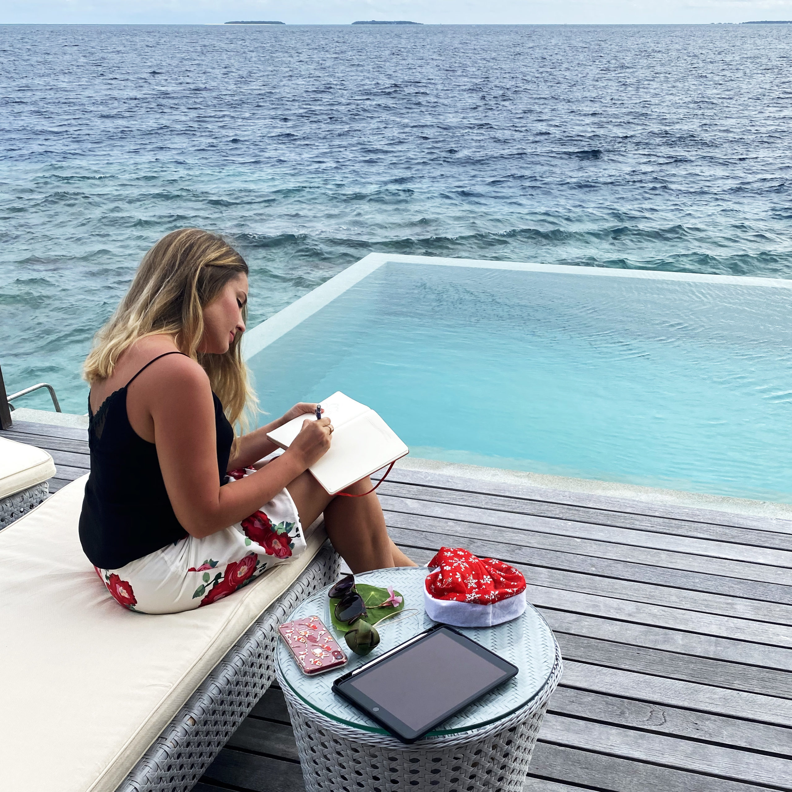 Pause dessin aux Maldives