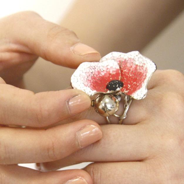 Maquette bague fleur