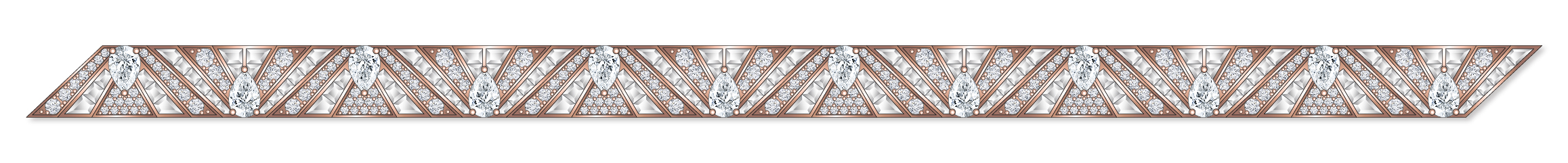 Dessin bracelet Art Deco diamants