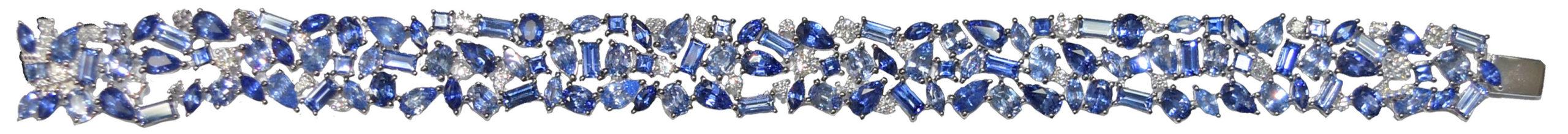 Bracelet saphirs diamants