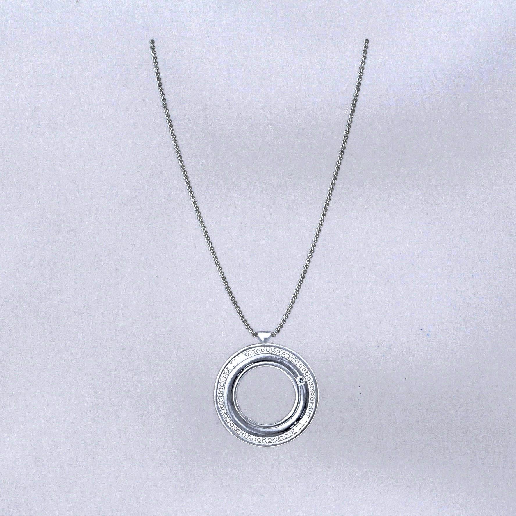 Gouache pendentif Piaget diamants